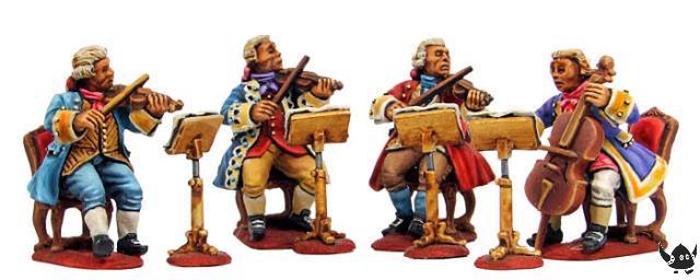28mm 18th Century Musicians