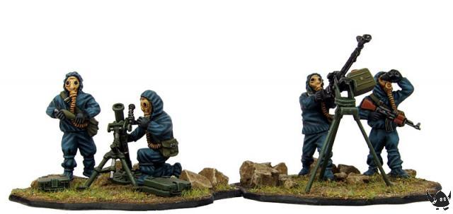 28mm Soviet Dshk and mortar