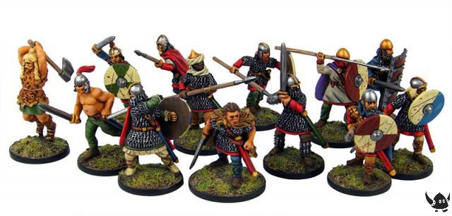 28mm Beowulf and retinue in action poses!