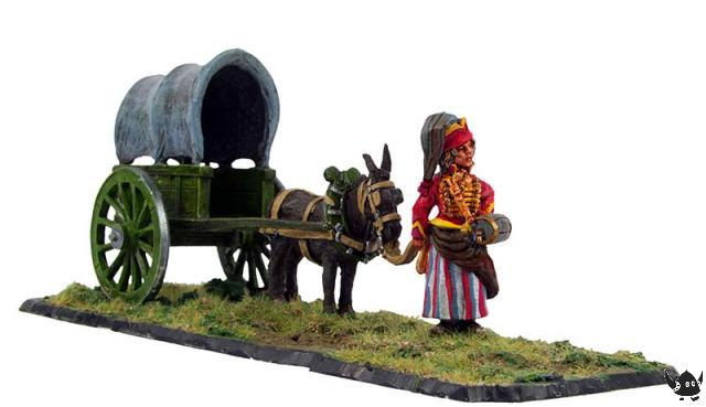 Cantiniere and wagon