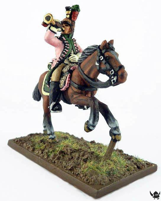 28mm French Dragoon trumpeter
