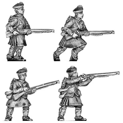 Highlander infantry in North American uniform