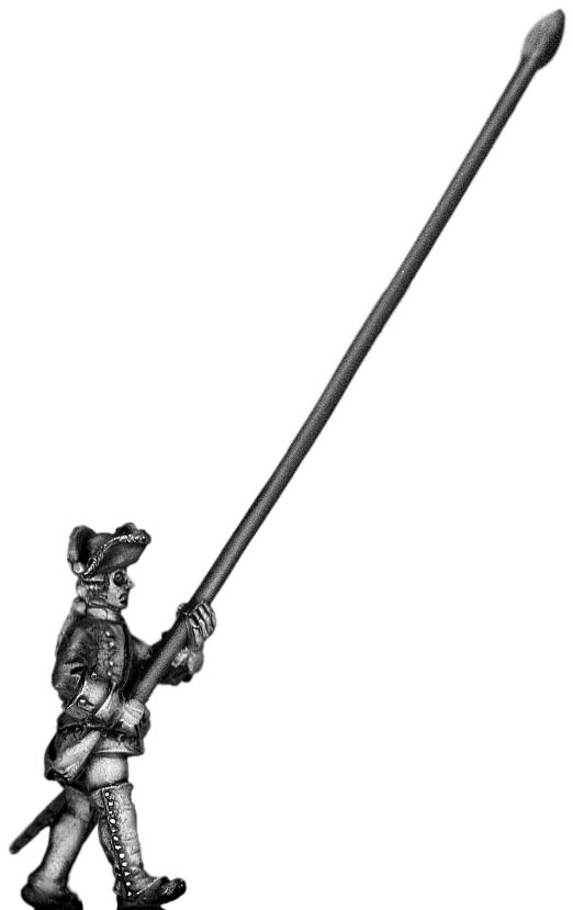 1756-63 Saxon Musketeer standard bearer, marching