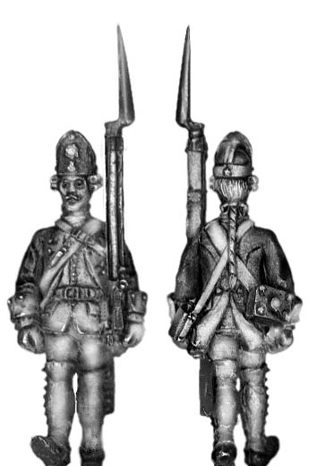 1756-63 Saxon Fusilier, march-attack