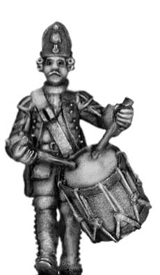1756-63 Saxon Fusilier drummer, marching