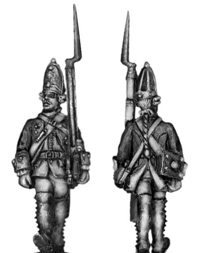 1756-63 Saxon Grenadier, march-attack