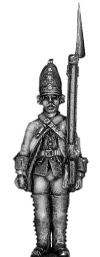 1756-63 Saxon Grenadier, at attention