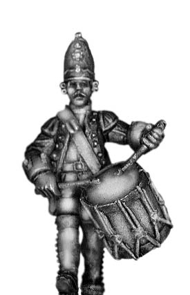 1756-63 Saxon Grenadier drummer, marching