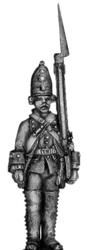 1756-63 Saxon Guard Grenadier standing at attention