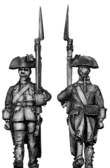 Dutch Musketeer, march-attack, coat with cuffs and lapels