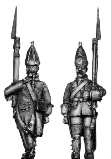 Dutch Grenadier, march-attack, coat with cuffs and lapels