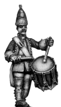 Dutch Grenadier Drummer, marching, coat with cuffs and lapels