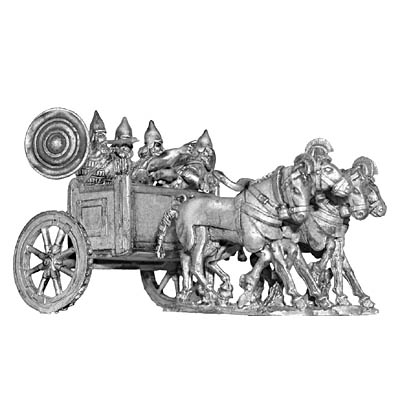 Assyrian four horse chariot and crew