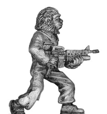 Boiler Suited Ape, with M-16
