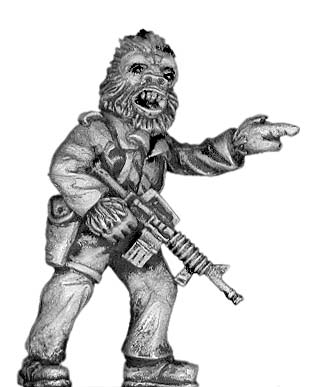 Boiler Suited Ape Sergeant, with M-16