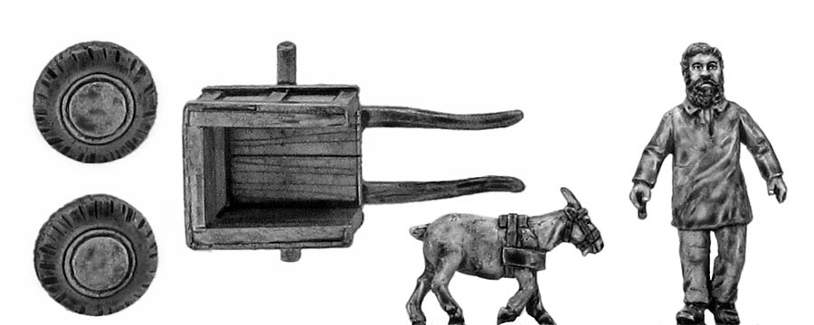 Goat cart with load and driver