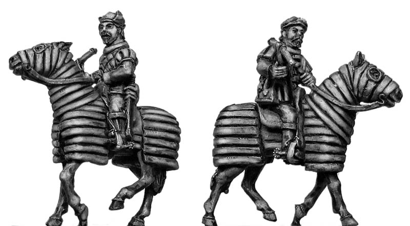 Mounted Crossbowman on barded horse