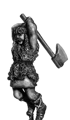 Germanic companion with axe: action pose