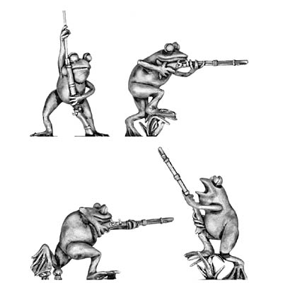 Frog, with musket
