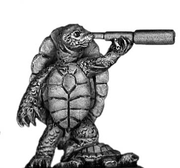 Turtle officer with telescope