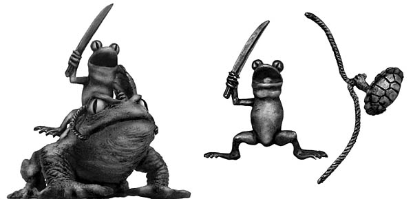 Frog Cavalry on toad mount with sword