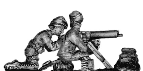 Turkish Maxim MG 08 machine gun and crew