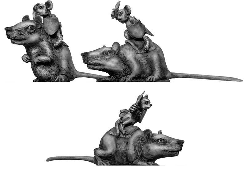 Warrior Mouse Cavalry, on rat mounts