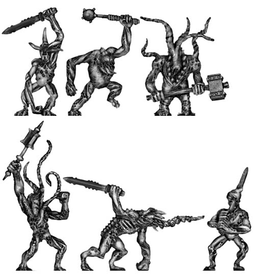 Daemons with weapons
