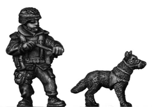 German Bundeswehr military working dog and handler