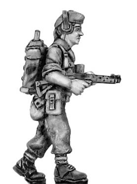 British infantry in glengarry cap signaller with radio and Sterl