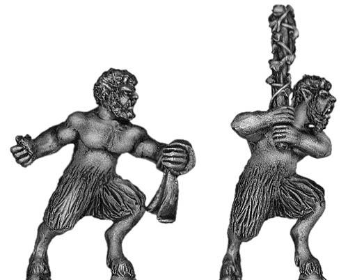 Satyr with hand weapons