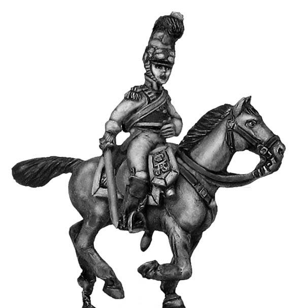 1812 K�rrassier-Regiment von Zastrow officer charging
