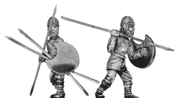 Pathlagonian infantry, wicker helmet, crescent shield