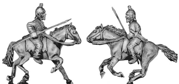 Pathlagonian cavalry, felt cap, spear/javelin