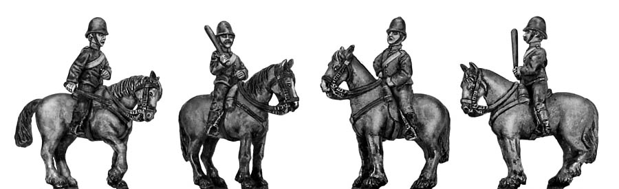 Victorian Mounted Police at rest