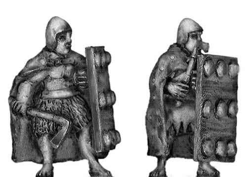 Sumerian front rank axeman with cloak