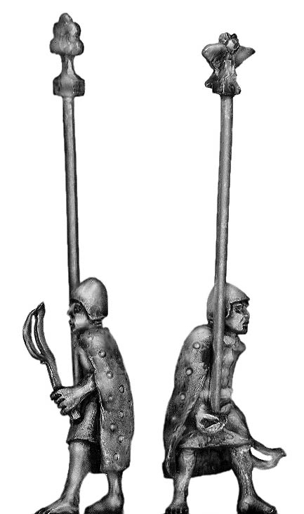 Sumerian�Standard Bearer with cloak