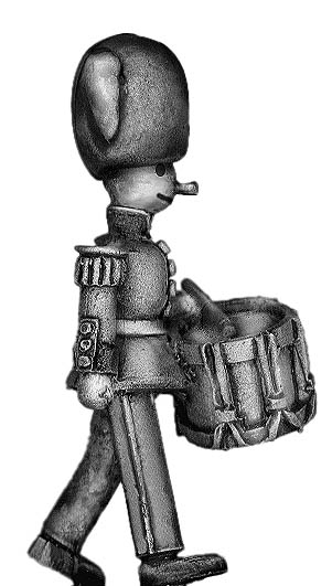 Toy Town Soldier Drummer in busby marching