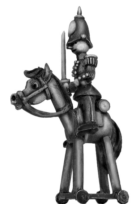 Toy Town Soldier Mounted Officer in helmet