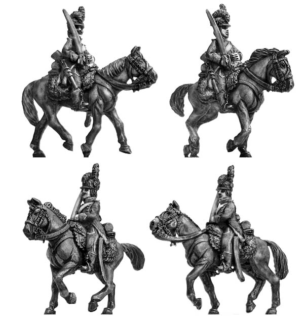 Chasseur � Cheval at rest tailed surtout coat in helmet