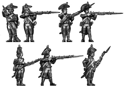 Grenadier, bicorne, regulation uniform, firing & loading