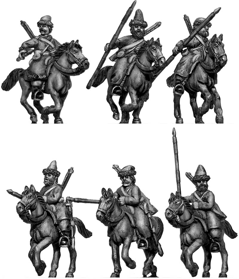 Ural Cossacks, mounted