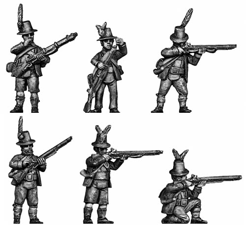 Tyrolean with firearm tall hat