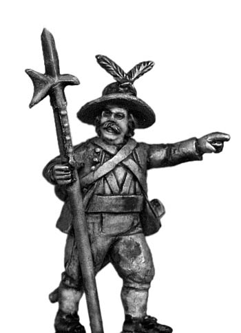 Tyrolean sergeant with halberd