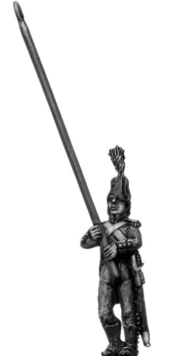 Light Infantry standard bearer c1793-1800, bicorne, short tailed