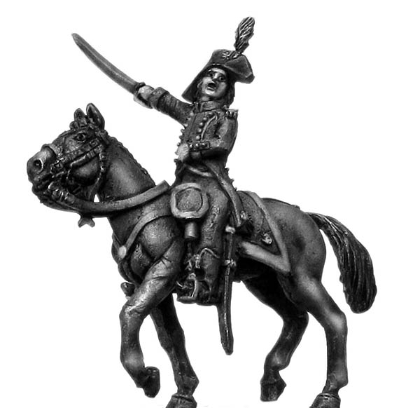 Light Infantry mounted officer c1793-1800, bicorne, regulation l