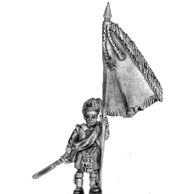 93rd Highlander Standard Bearer � with separate cast flag