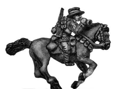 Australian Light Horse bugler mounted