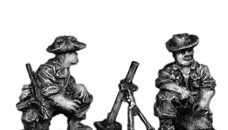 Legionnaire 60mm Mortar team in bush hat