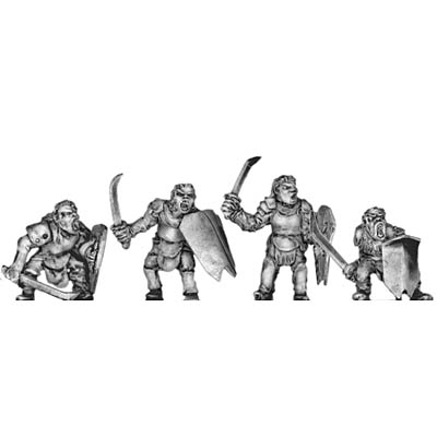 Man-Orc light infantry with sword